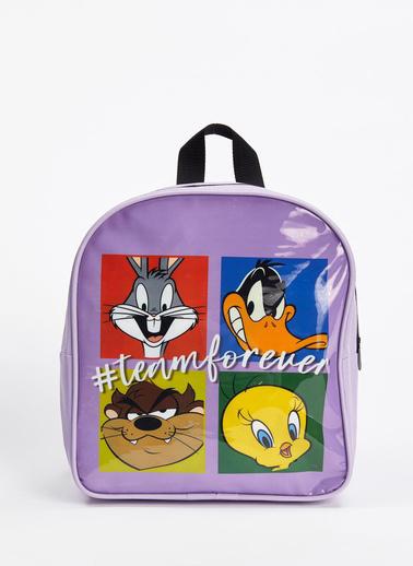 DeFacto Kız Çocuk Looney Tunes Lisanslı Sırt Çantası Mor